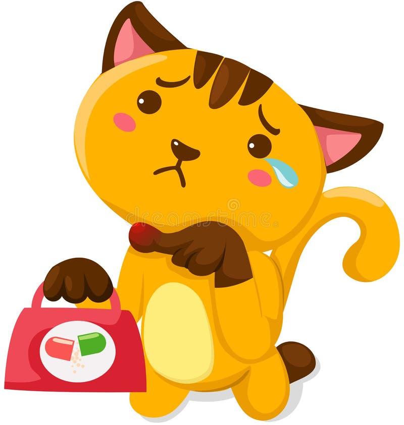 Download Kot raniący ilustracja wektor. Obraz złożonej z dzieciństwo - 25223021