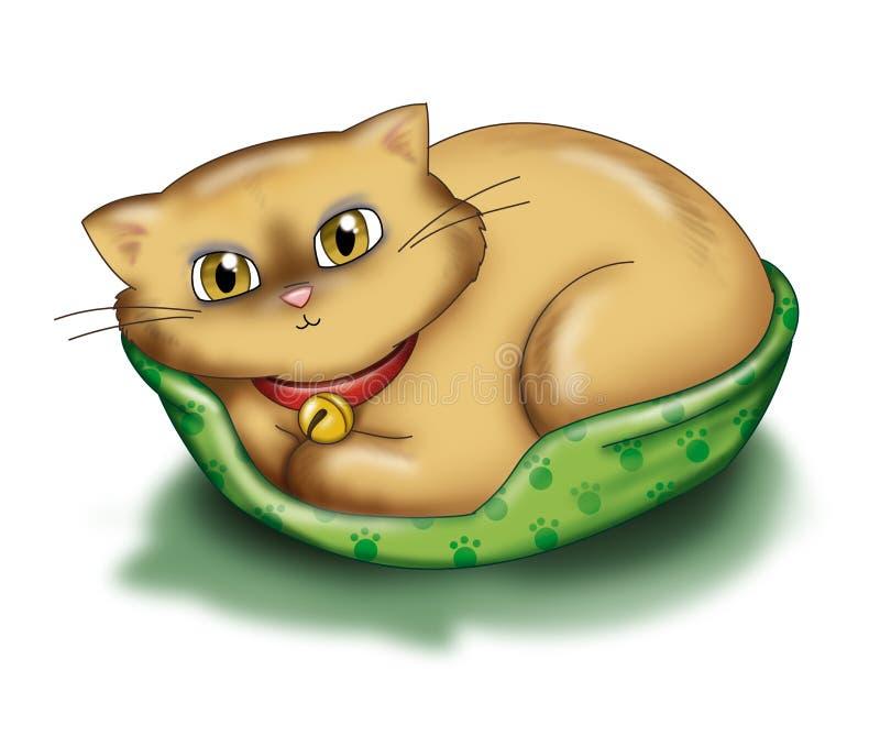kot się odprężyć royalty ilustracja