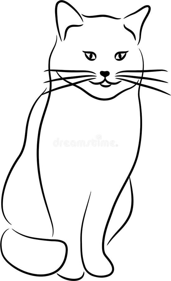 kot sylwetka ilustracji
