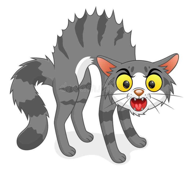 Kot wysklepiający z powrotem ilustracji