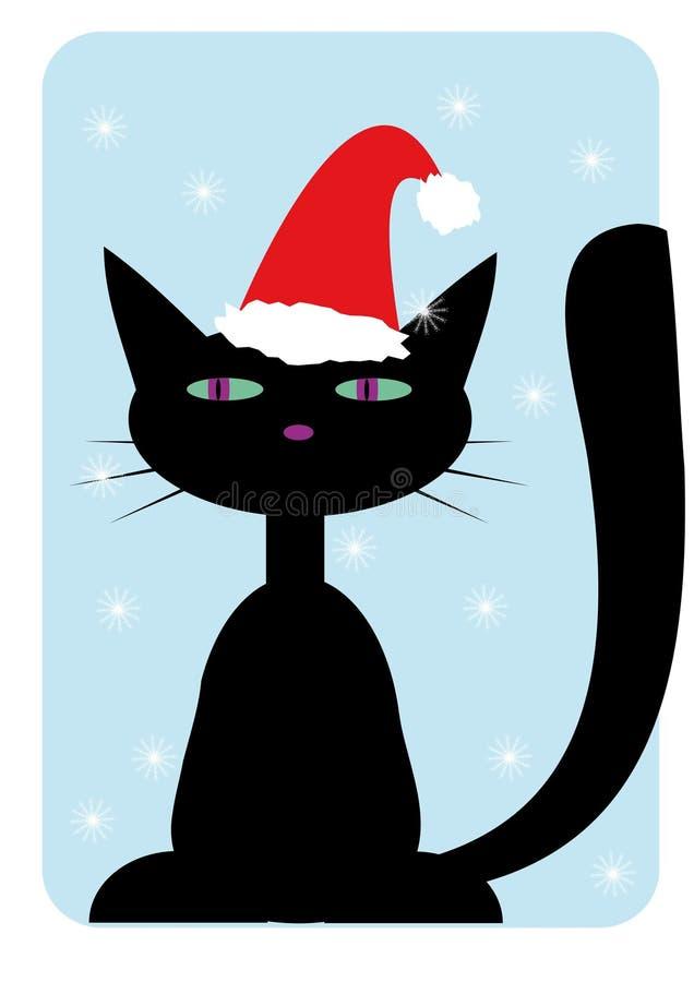 kota Claus kapeluszowy Santa target1915_0_ ilustracji