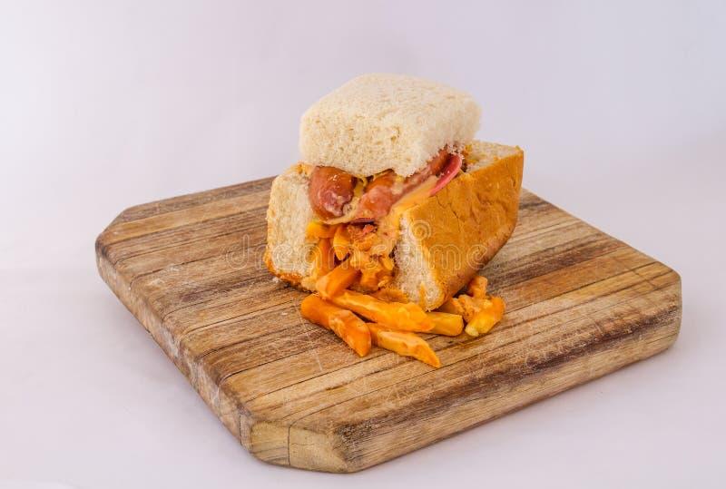 Kota - comida surafricana tradicional de la calle del municipio imágenes de archivo libres de regalías