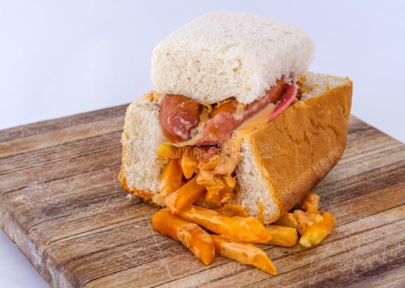 Kota - comida surafricana tradicional de la calle del municipio fotos de archivo