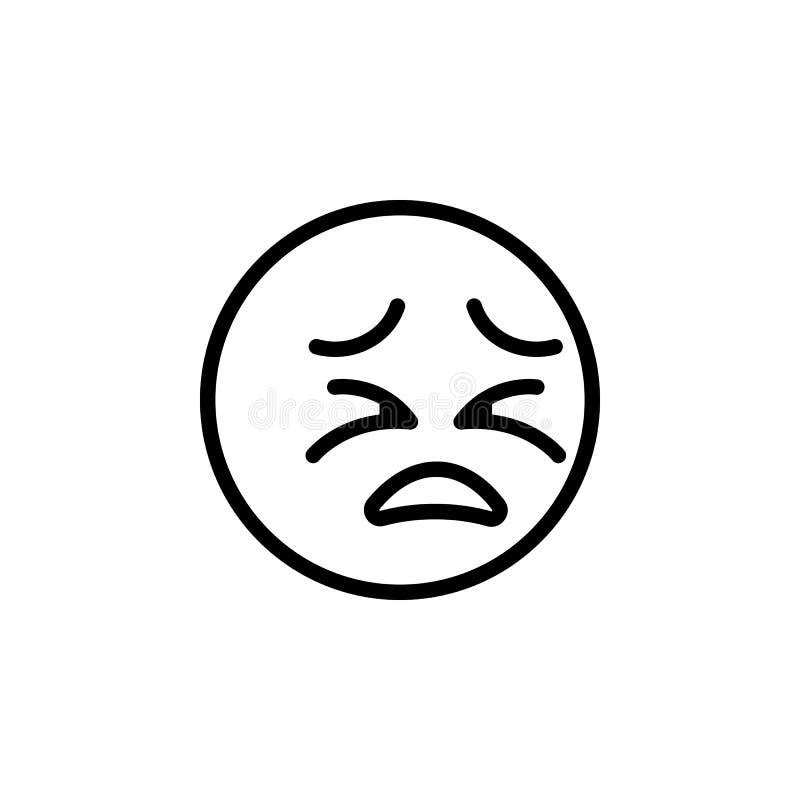 Kota emoji konturu roześmiana ikona Znaki i symbole mog? u?ywa? dla sieci, logo, mobilny app, UI, UX ilustracji