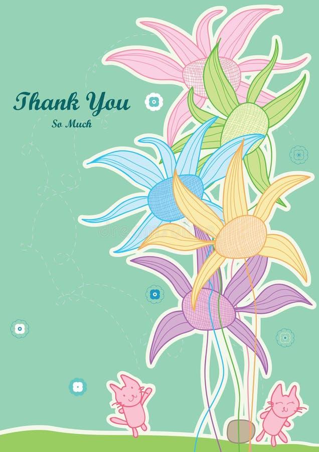 kota eps kwiatu pomoc dużo dziękować dotyka ty ilustracji