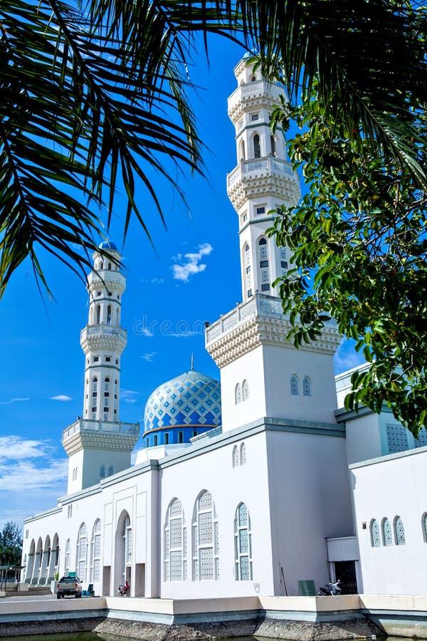 Kota Kinabalu City Mosque, Sabah, Bornéo, Malaisie photographie stock libre de droits
