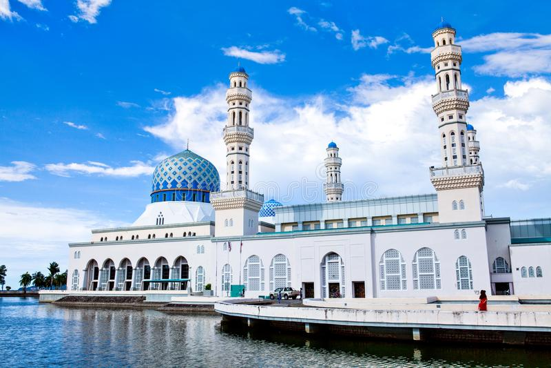 Kota Kinabalu City Mosque, Sabah, Bornéo, Malaisie image libre de droits