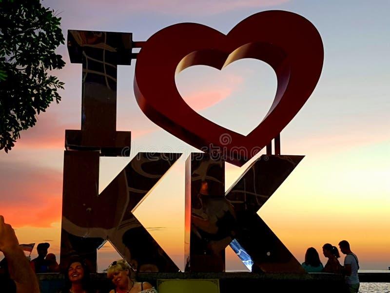 Kota Kinabalu City Sunset image stock
