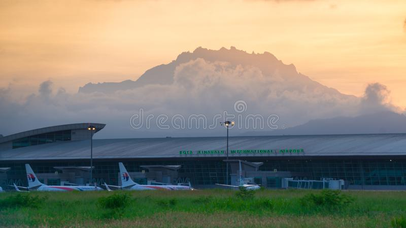 Kota Kinabalu International Airport fotografia stock
