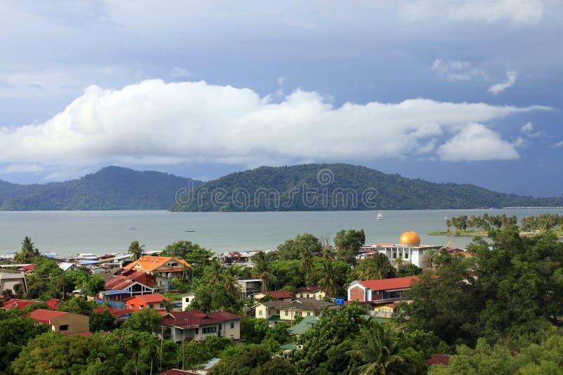 Kota Kinabalu miasto fotografia royalty free