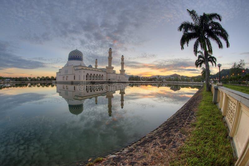 Kota Kinabalu Mosque royalty-vrije stock afbeeldingen