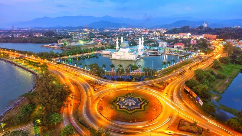 Kota Kinabalu Mosque imagenes de archivo