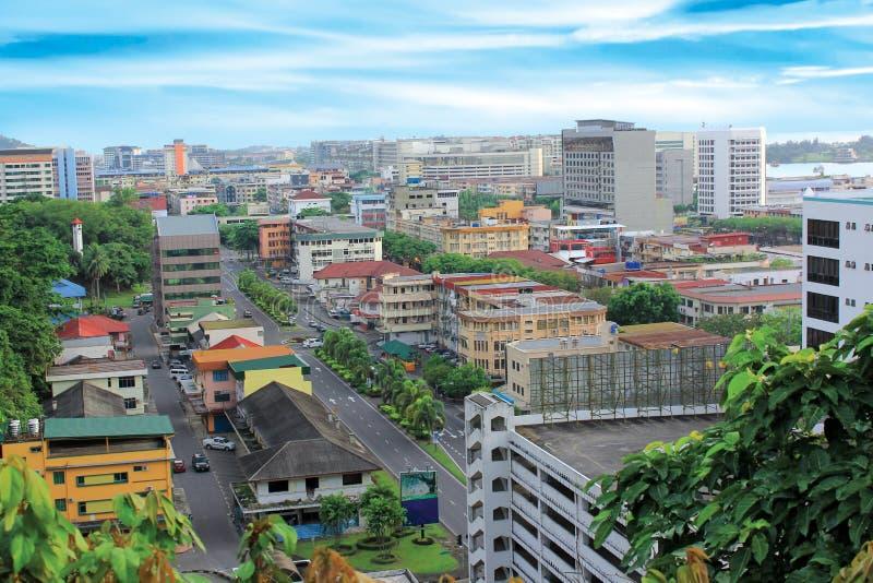 Kota Kinabalu Sabah. City view of Kota Kinabalu city, Sabah Malaysia stock photos