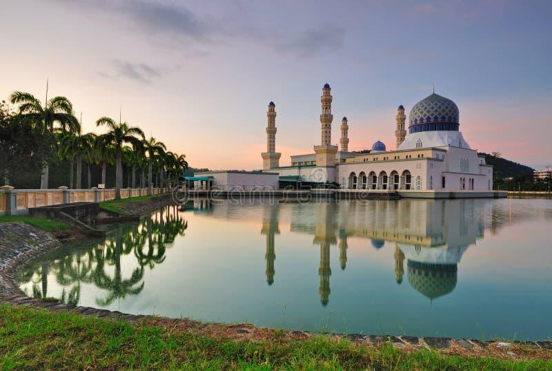 Kota Kinabalu Sabah Floating Mosque royaltyfria foton