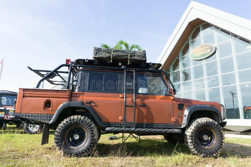 Land Rover Defender Sabah stock photography