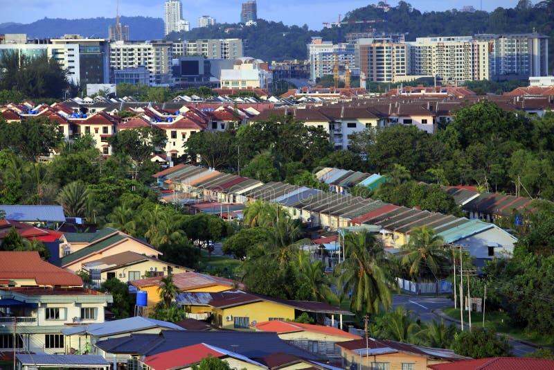 Kota Kinabalu stad royaltyfria bilder