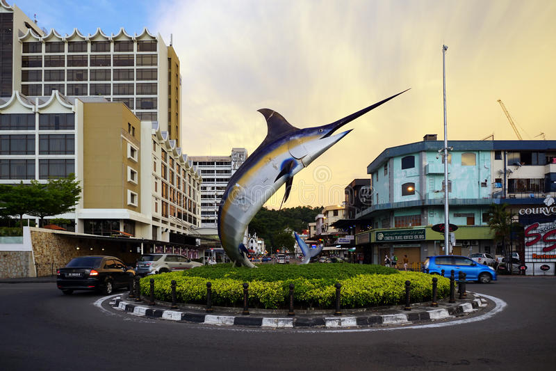 Kota Kinabalu-stad stock afbeeldingen