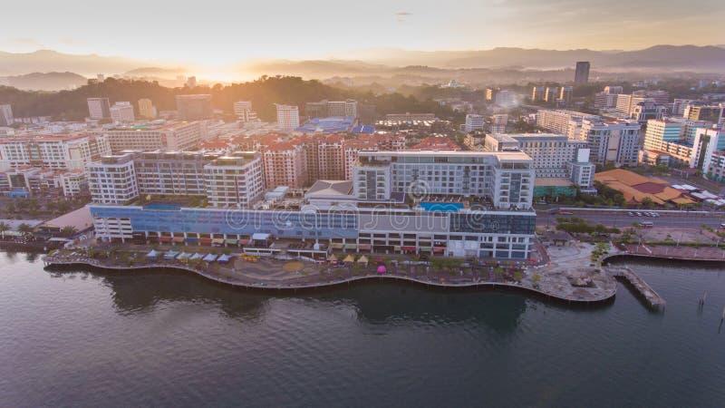 Kota Kinabalu-Stadt lizenzfreies stockfoto