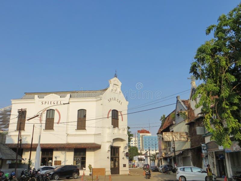 Kota Lama Semarang. Semarang, Indonesia - October 28, 2018: Working progress of revitalization project in Kota Lama. Some cultural heritage old buildings are royalty free stock images