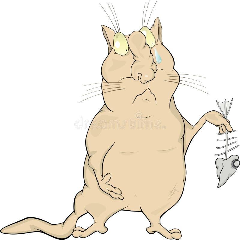 kota mały rybi zredukowany ilustracja wektor