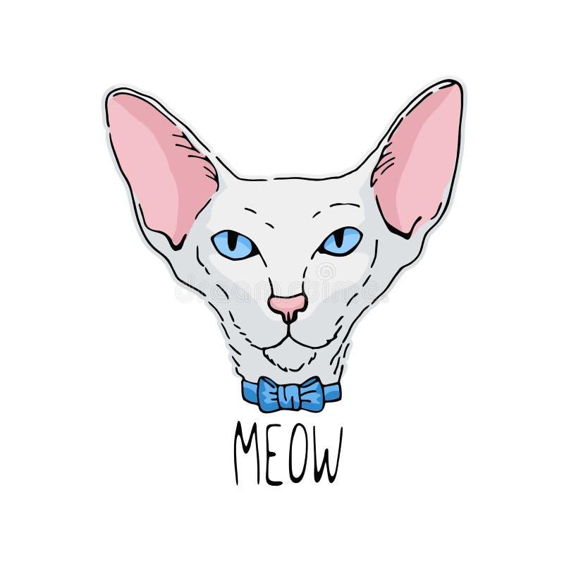 kota Oriental portret ilustracji