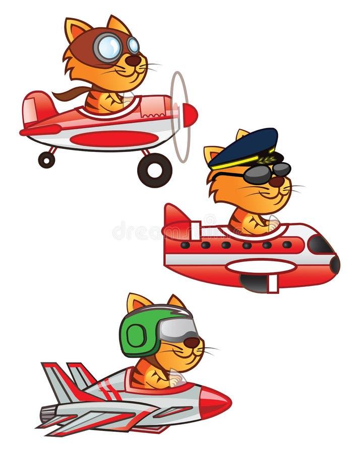 Kota pilot ilustracja wektor