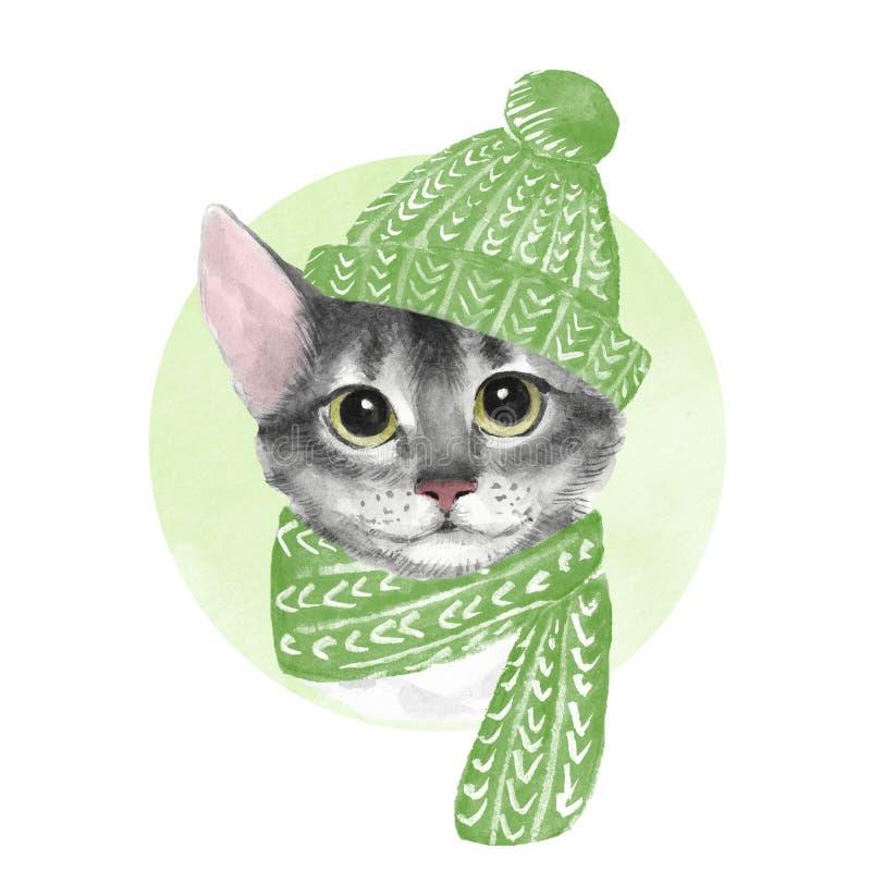 kota projekta gradientowy kapeluszowy ilustracyjny nie ilustracja wektor