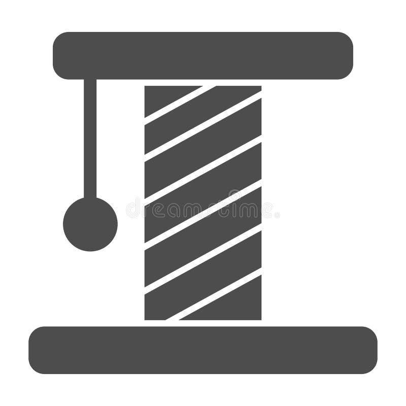 Kota scratcher bryły ikona Zwierzę domowe zabawkarska wektorowa ilustracja odizolowywająca na bielu Figlarki scratcher glifu styl ilustracja wektor
