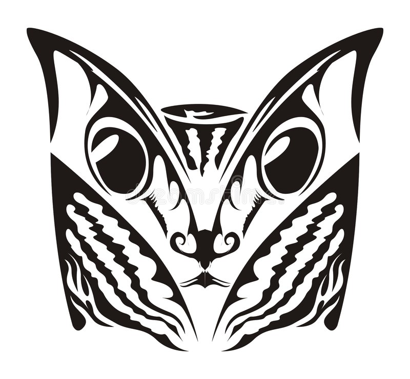 Kota Tatuaż Zdjęcie Royalty Free