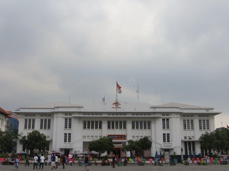Kota Tua Jakarta Batavia gammal stad royaltyfria bilder