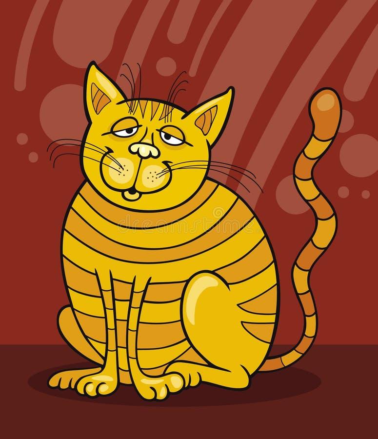 kota uśmiechnięty kolor żółty ilustracji