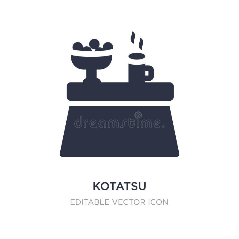 kotatsu ikona na białym tle Prosta element ilustracja od meble i gospodarstwa domowego pojęcia ilustracja wektor