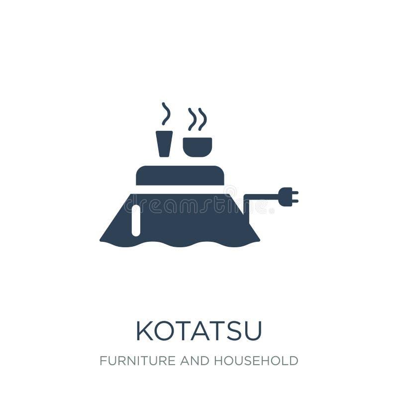 kotatsu ikona w modnym projekta stylu kotatsu ikona odizolowywająca na białym tle kotatsu wektorowej ikony prosty i nowożytny pła ilustracji