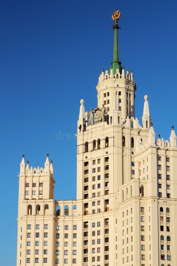 Kotelnicheskaya Embankment Building, Moscow. Kotelnicheskaya Embankment Building is one of seven Stalinist skyscrapers stock images