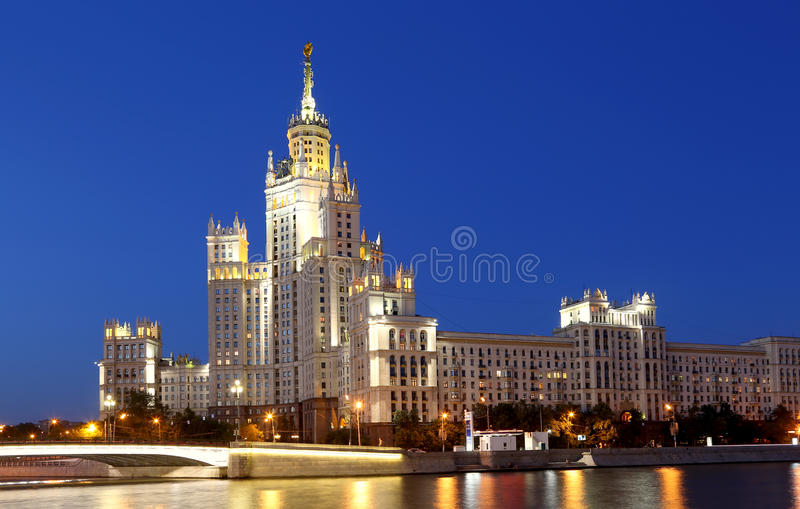 Kotelnicheskaya Embankment Building, Moscow, Russia. Is one of seven stalinist skyscrapers laid down in September, 1947 and completed in 1952 royalty free stock photography