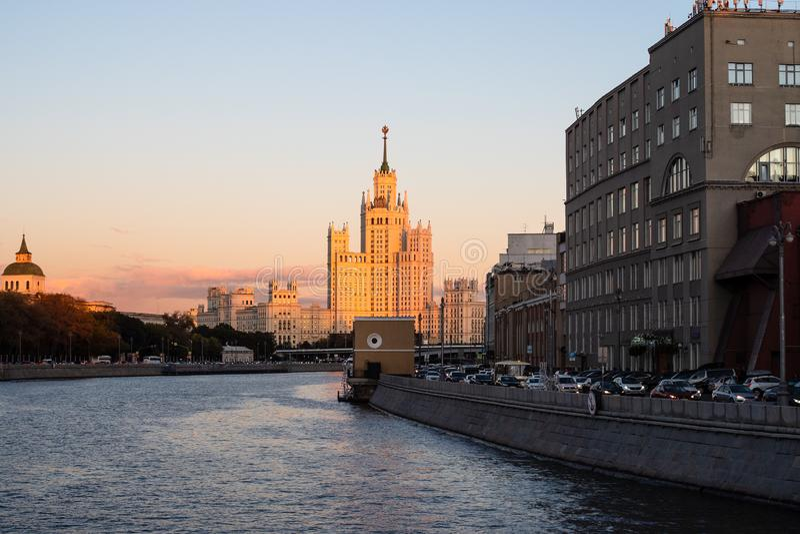 Kotelnicheskaya Embankment High-Rise Building royalty free stock images