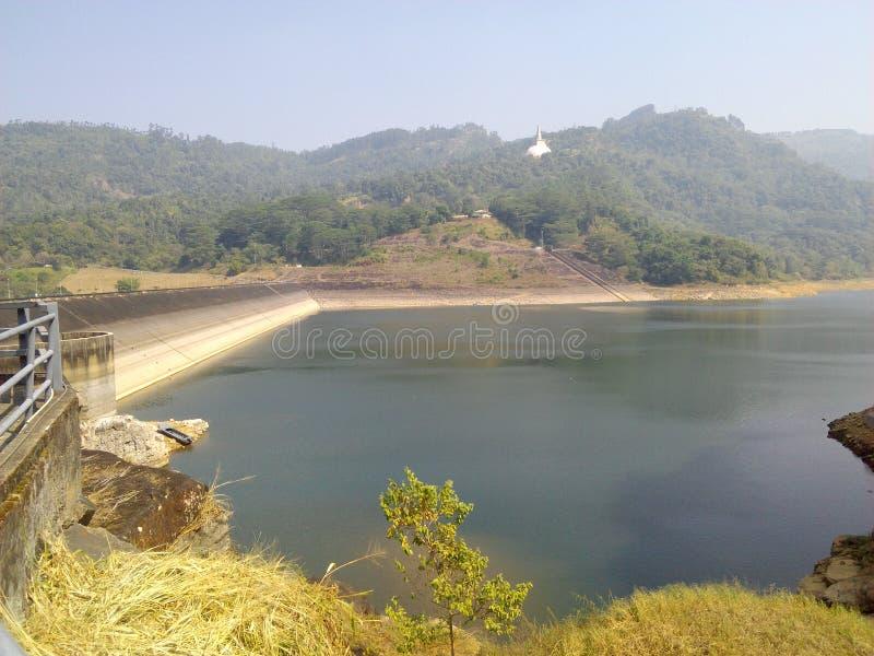 Kothmale represa acima Sri Lanka lateral imagens de stock