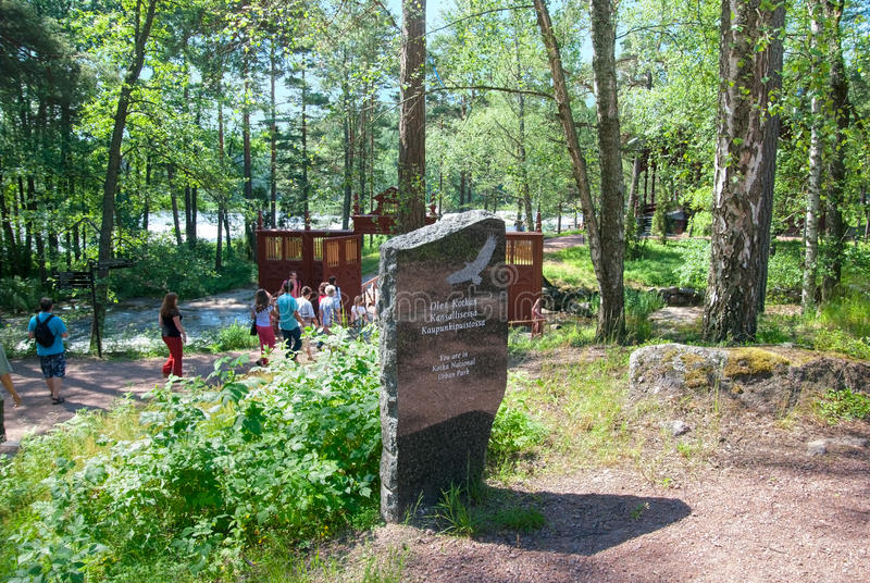 Kotka finland Folk nära imperialistisk fiskeloge arkivbilder