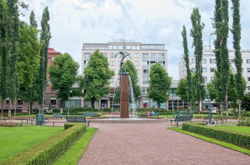 Kotka finland Fonte no parque de Sibelius fotos de stock