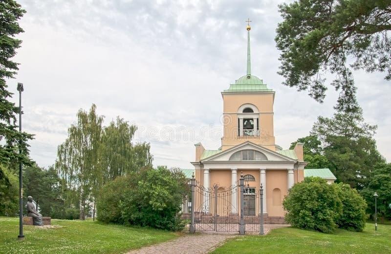 Kotka finland Igreja ortodoxa de São Nicolau imagens de stock