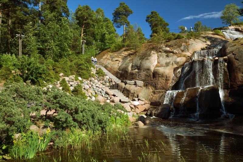 Kotka, Finlandia - jardim da água de Sapokka imagem de stock royalty free