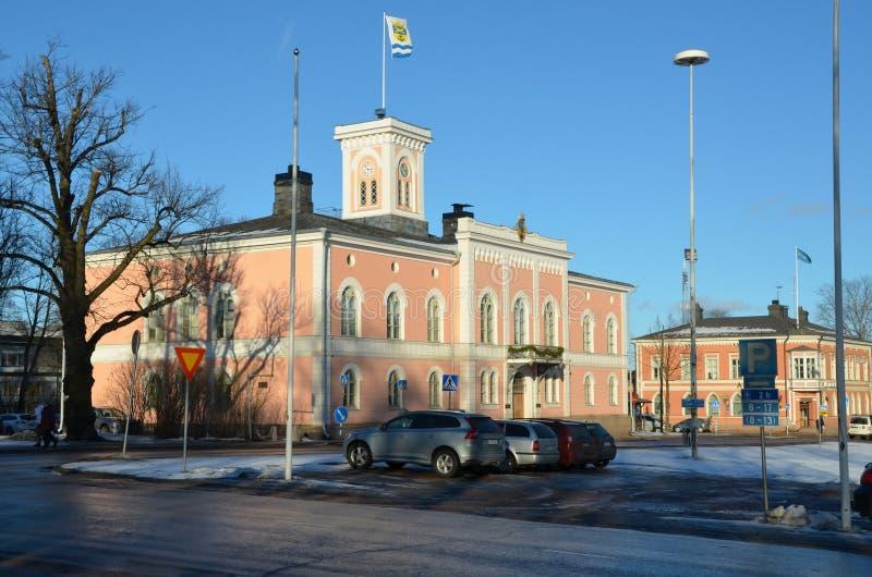 Kotka, Finlandia, opiniões da cidade fotos de stock