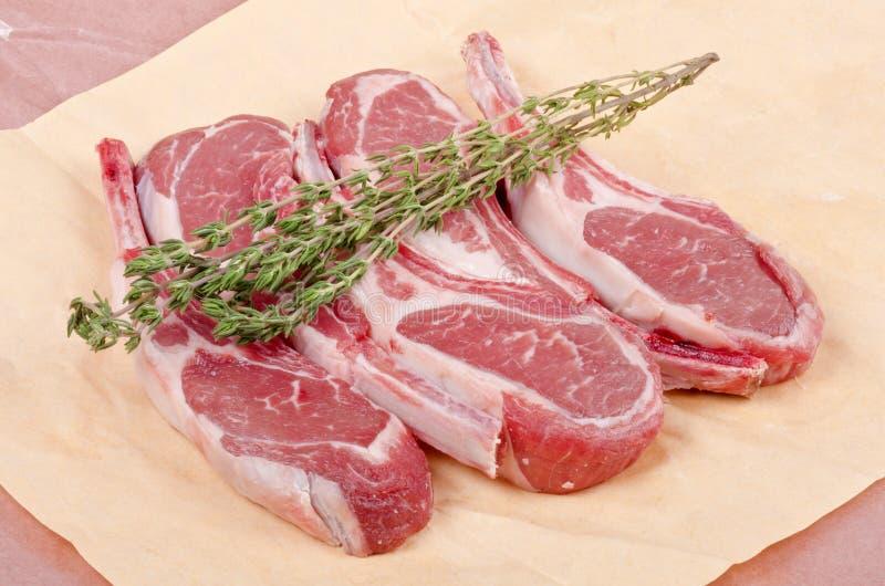 kotleciki lamb surowego obrazy royalty free