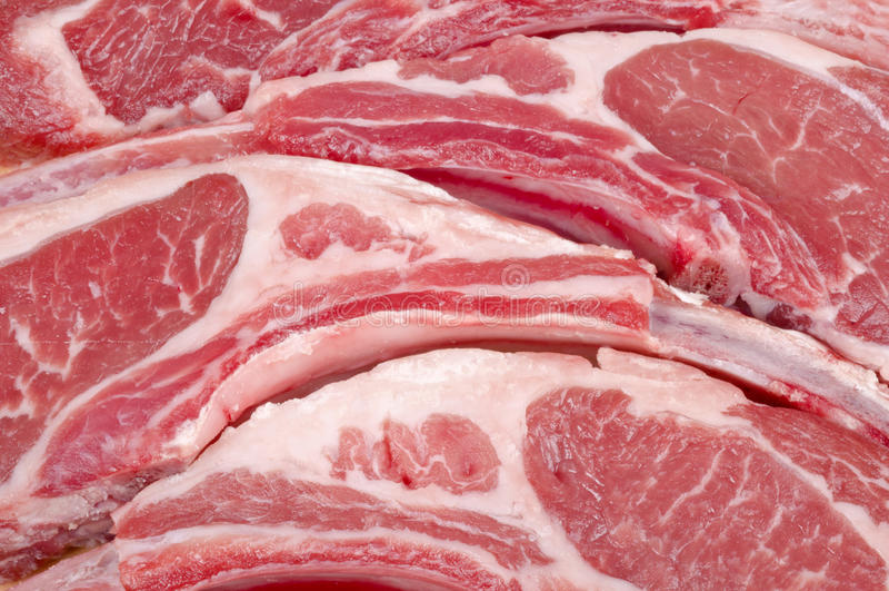 kotleciki lamb surowego zdjęcia stock