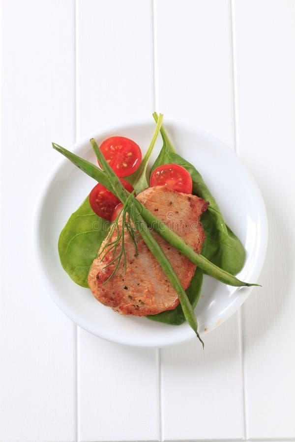 kotlett marinated pork royaltyfri bild