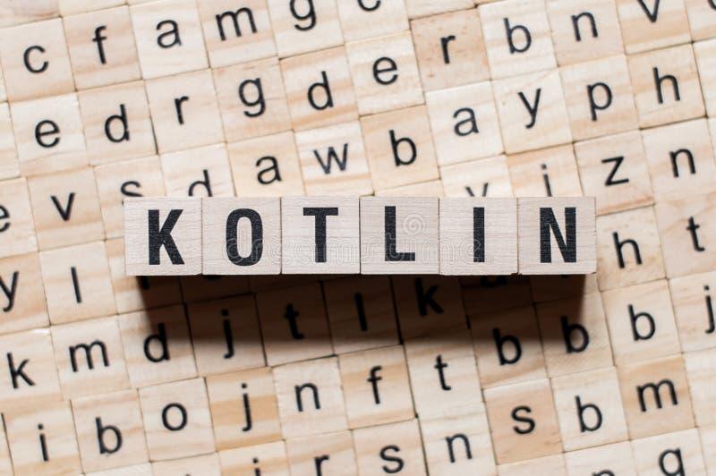 Kotlin-Wortkonzept stockfotografie