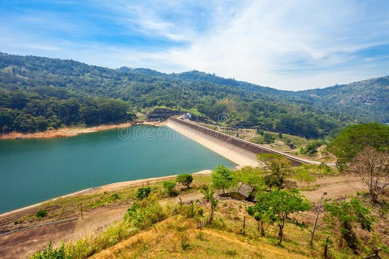 Kotmale水坝,斯里兰卡 免版税库存图片