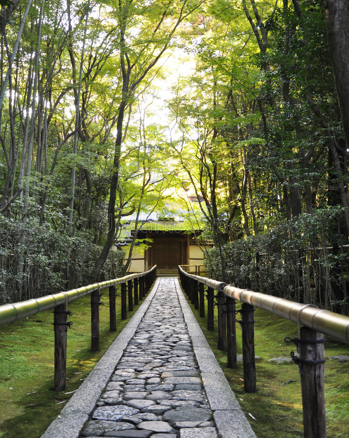 Koto-in een sub-tempel van Daitoku -daitoku-ji - Kyoto, Japan stock foto
