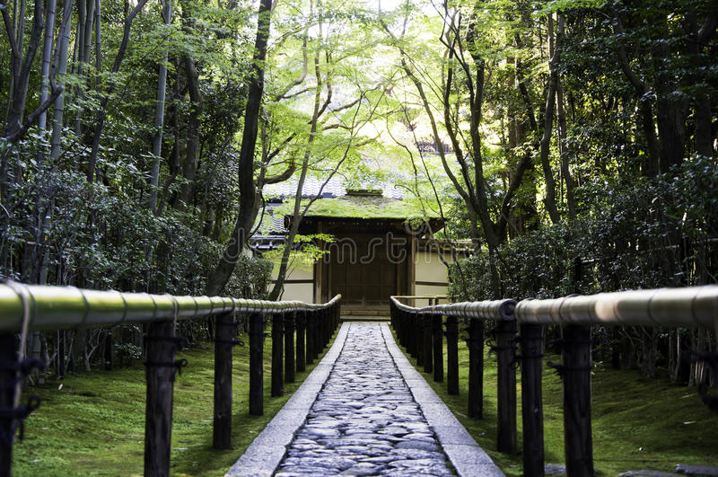 Koto-em um secundário-templo de Daitoku-ji - Kyoto, Japão imagem de stock