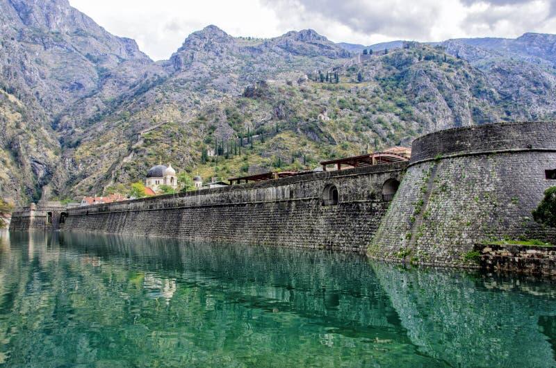 Kotor市墙壁,蒙特内哥罗 免版税库存图片